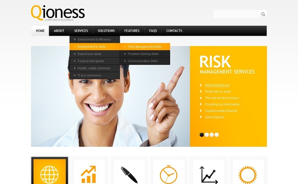 PSD Template over Business & Diensten New Screenshots BIG