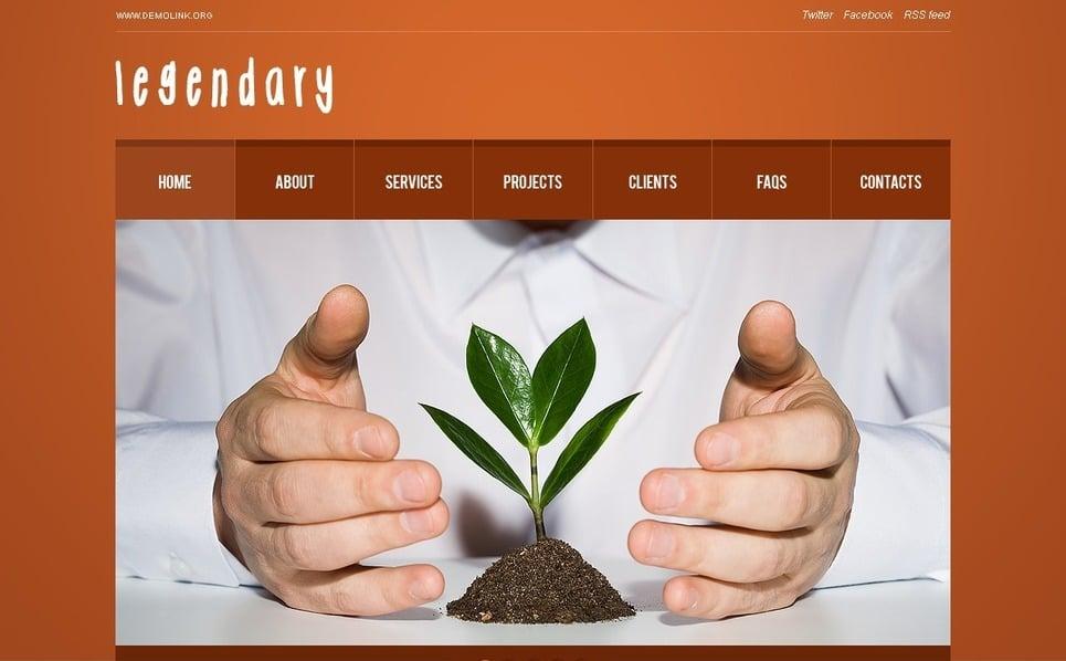 PSD шаблон №56902 на тему Бизнес и услуги New Screenshots BIG