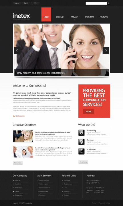 ADOBE Photoshop Template 56903 Home Page Screenshot