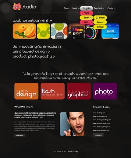PSD макет сайта №56905