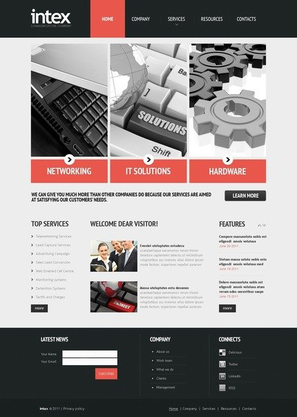 ADOBE Photoshop Template 56906 Home Page Screenshot