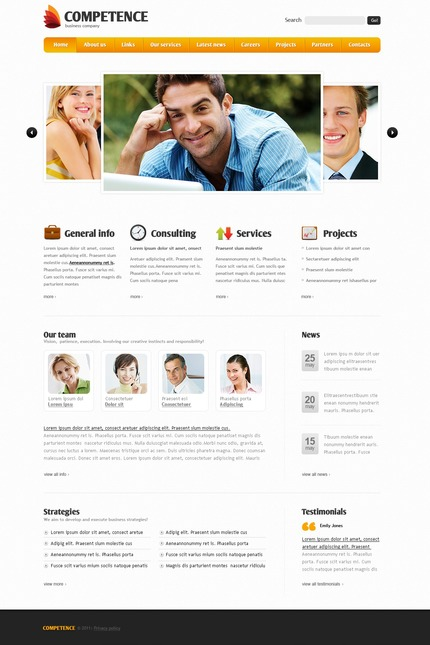 ADOBE Photoshop Template 56914 Home Page Screenshot