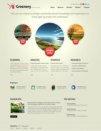 ADOBE Photoshop Template 56918 Home Page Screenshot