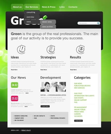 ADOBE Photoshop Template 56920 Home Page Screenshot