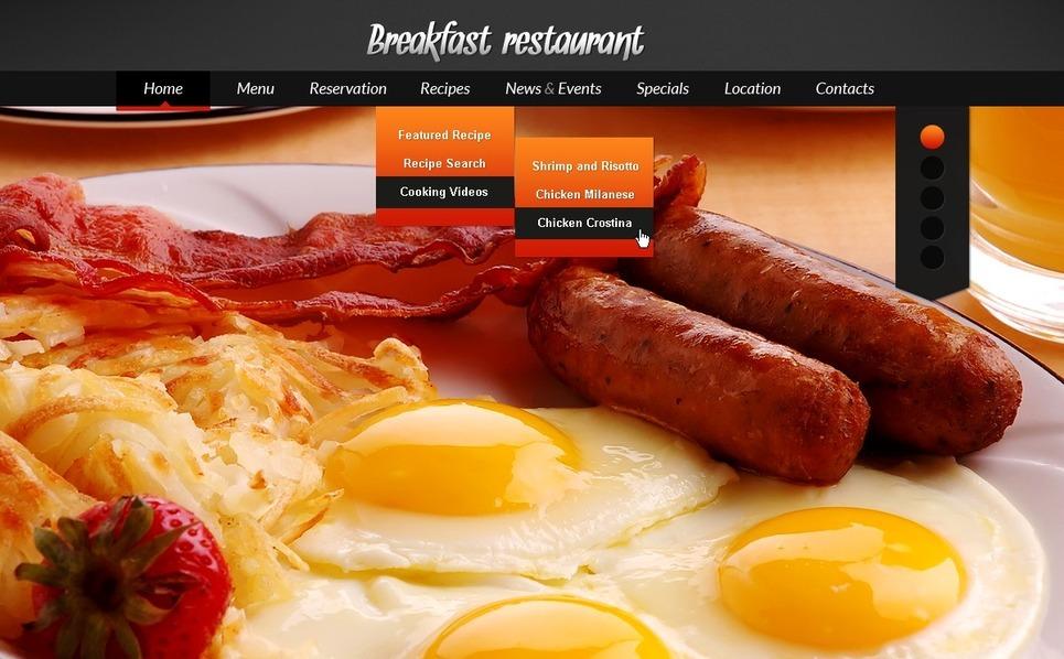 PSD šablona Kavárny a Restaurace New Screenshots BIG