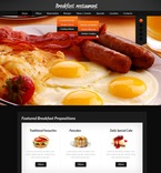 Cafe & Restaurant PSD  Template 56927