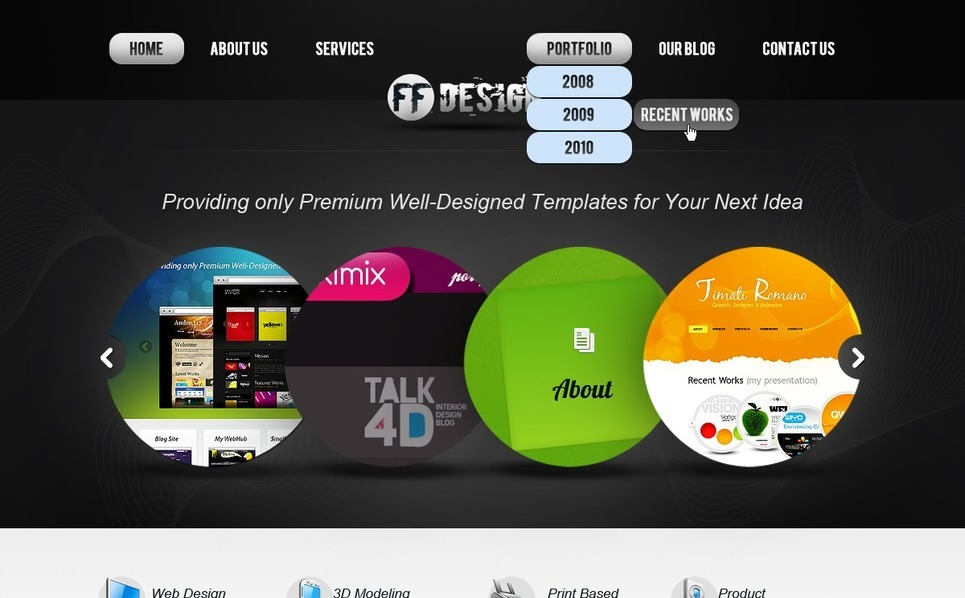 Tema PSD  #56928 per Un Sito di Web Design New Screenshots BIG