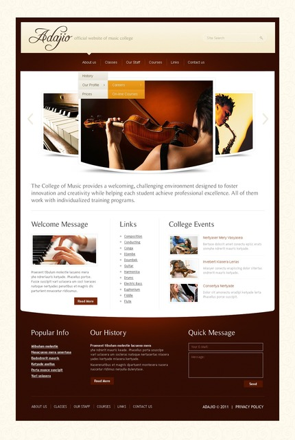 ADOBE Photoshop Template 56929 Home Page Screenshot