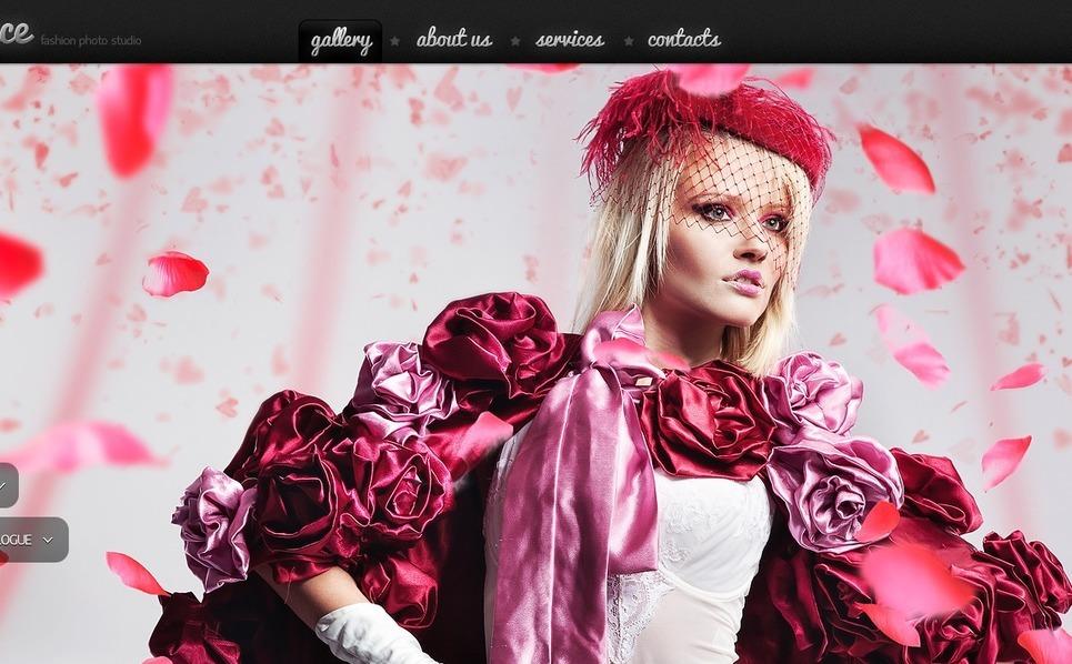 Plantilla PSD #56930 para Sitio de Estudio fotográfico New Screenshots BIG