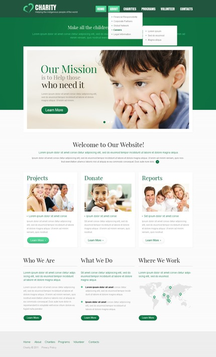 ADOBE Photoshop Template 56934 Home Page Screenshot