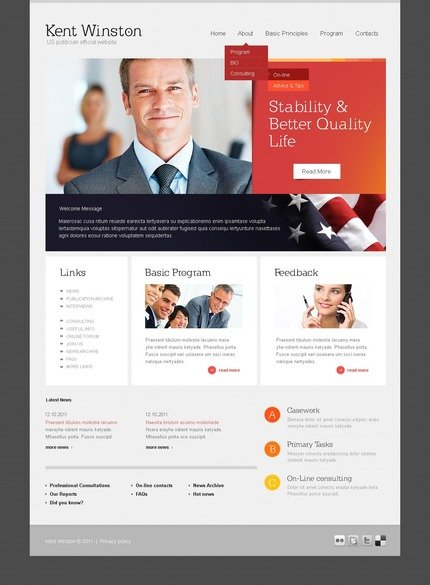 ADOBE Photoshop Template 56936 Home Page Screenshot
