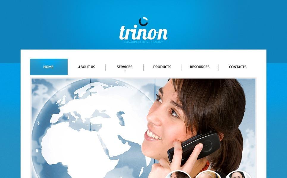 Plantilla PSD #56937 para Sitio de Comunicaciones New Screenshots BIG