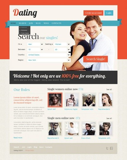 ADOBE Photoshop Template 56942 Home Page Screenshot
