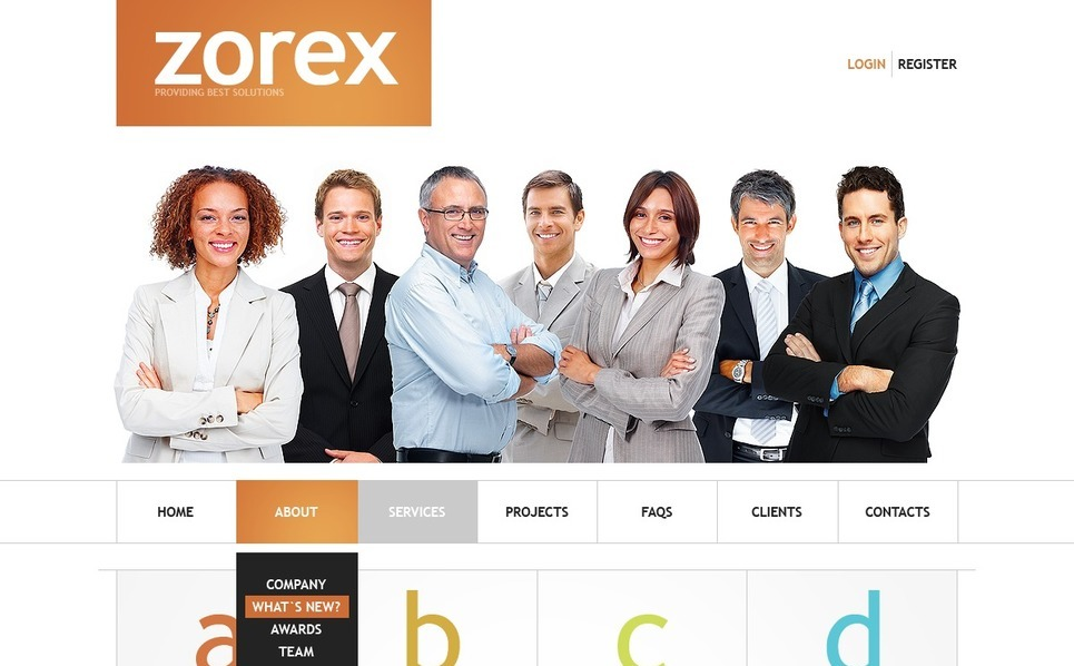 Template Photoshop  para Sites de Business & Services №56951 New Screenshots BIG