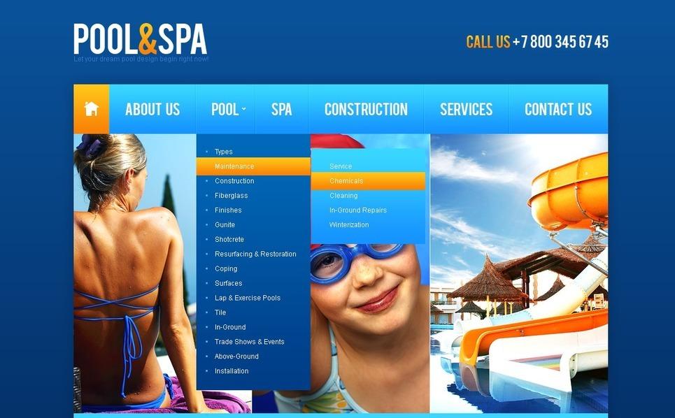 Úszás PSD sablon New Screenshots BIG
