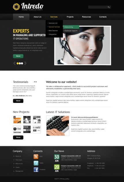 ADOBE Photoshop Template 56955 Home Page Screenshot