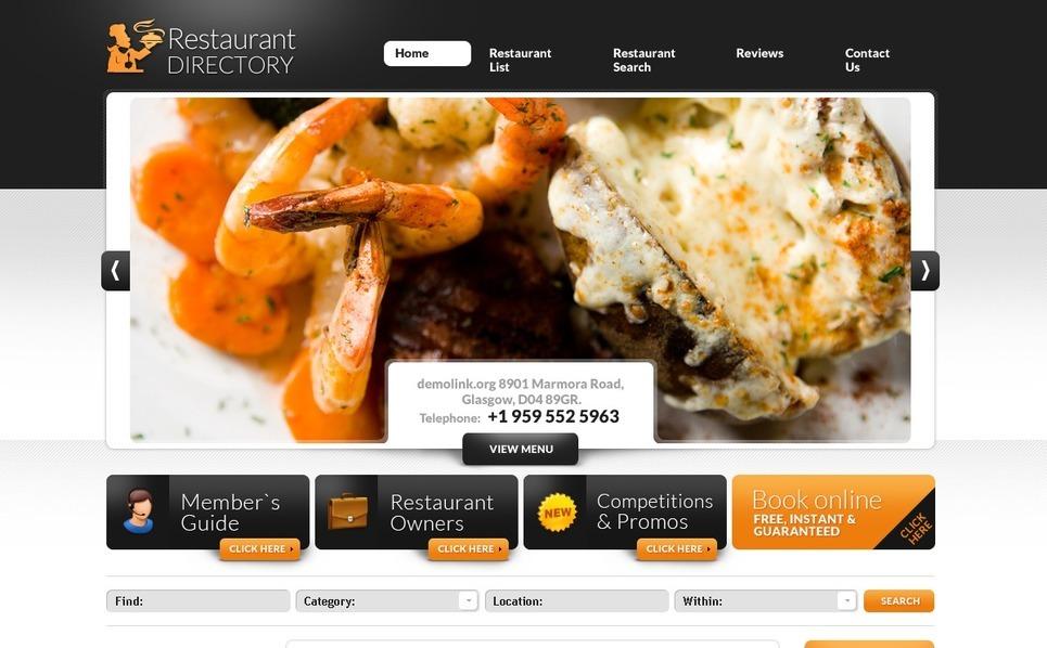 PSD шаблон на тему кафе і ресторани New Screenshots BIG