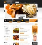 Cafe & Restaurant PSD  Template 56957