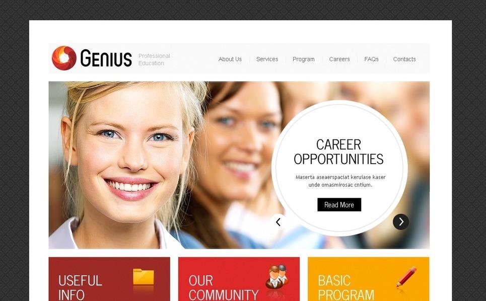 PSD шаблон №56961 на тему школа бизнеса New Screenshots BIG
