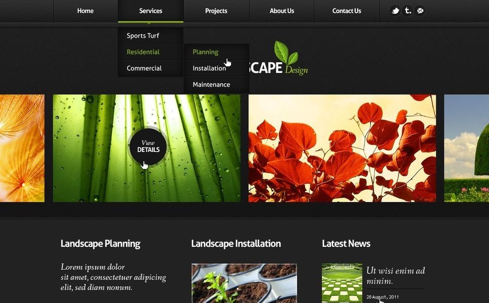 Tema PSD  #56970 per Un Sito di Architettura del Paesaggio New Screenshots BIG