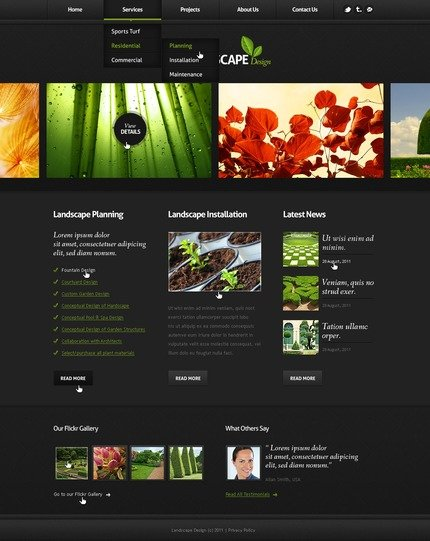 ADOBE Photoshop Template 56970 Home Page Screenshot