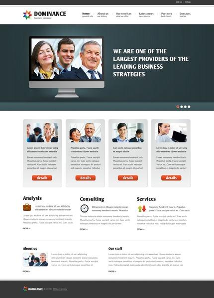 ADOBE Photoshop Template 56973 Home Page Screenshot
