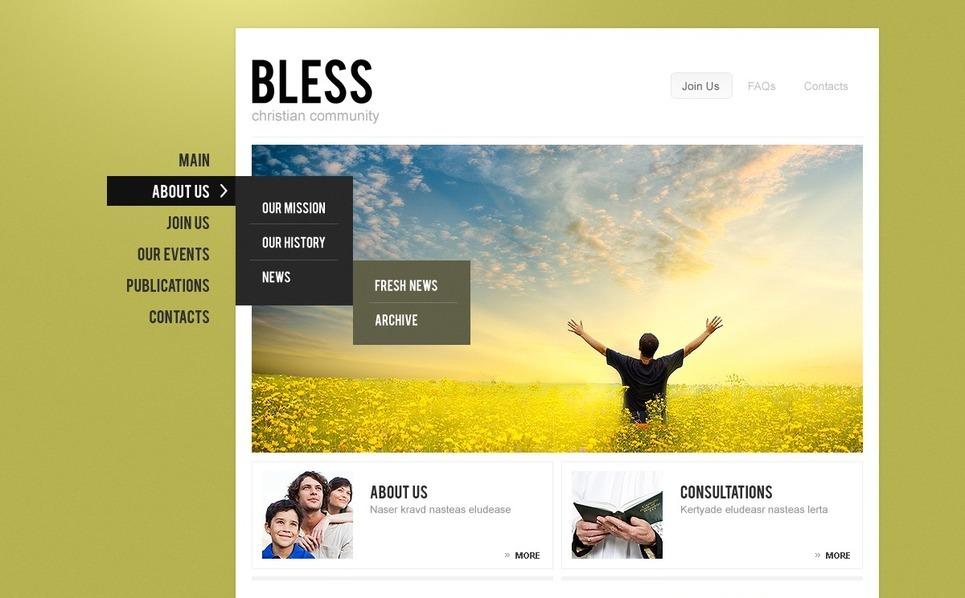 PSD шаблон №56974 на тему  религиозной тики New Screenshots BIG