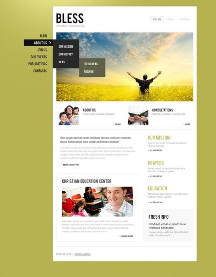 ADOBE Photoshop Template 56974 Home Page Screenshot