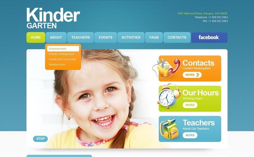 Plantilla PSD #56975 para Sitio de Centro para niños New Screenshots BIG