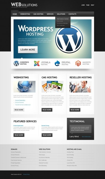 ADOBE Photoshop Template 56977 Home Page Screenshot