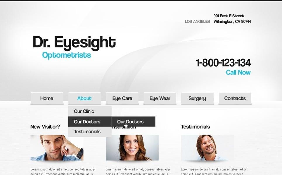 Template Photoshop  para Sites de Optometrista №56980 New Screenshots BIG
