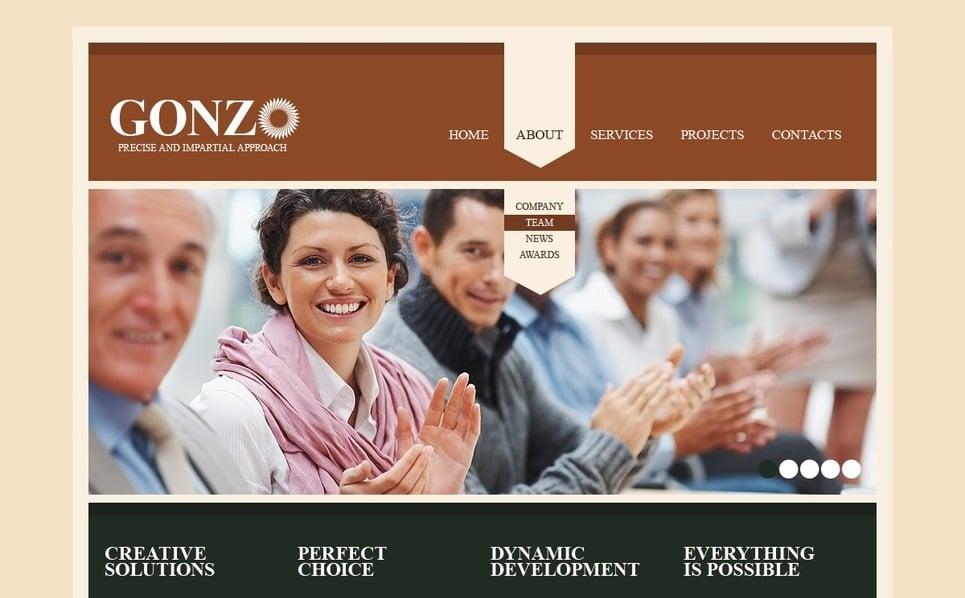 Plantilla PSD #56984 para Sitio de Negocio y Servicios New Screenshots BIG