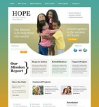 Charity PSD  Template 56986