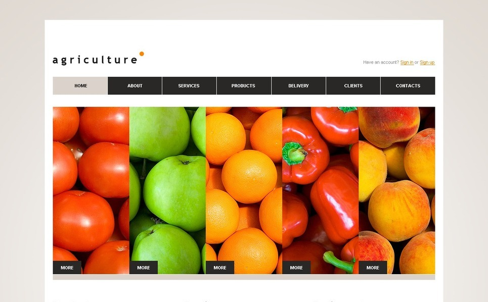 Template Photoshop  para Sites de Agricultura №56988 New Screenshots BIG