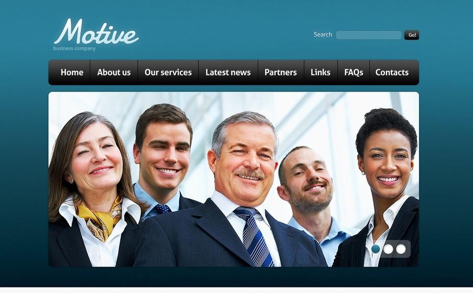 PSD шаблон №56992 на тему Бизнес и услуги New Screenshots BIG