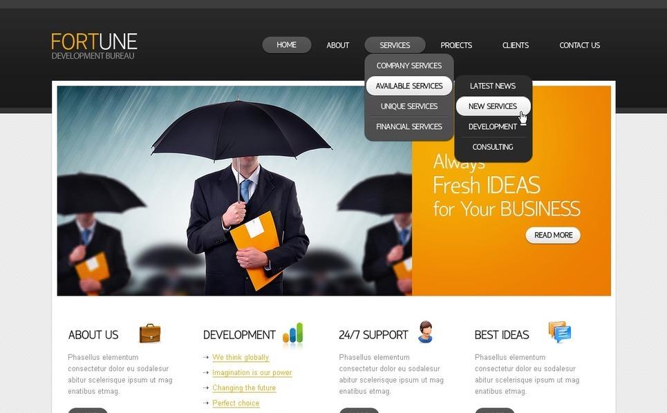Template Photoshop  para Sites de Business & Services №56995 New Screenshots BIG