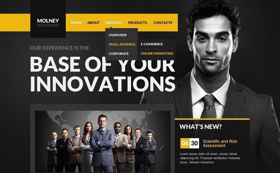 Szablon PSD #56998 na temat: biznes i usługi New Screenshots BIG