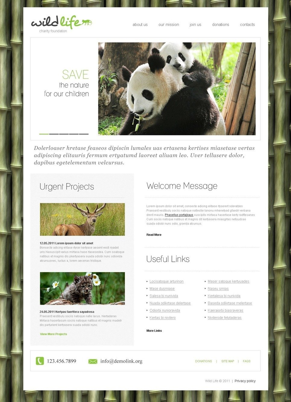 Animal Shelter PSD Template New Screenshots BIG