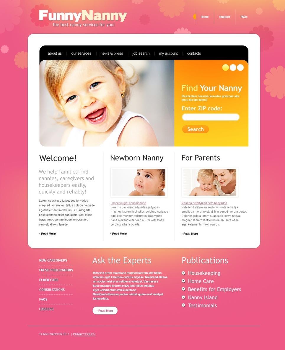 Babysitter PSD Template New Screenshots BIG