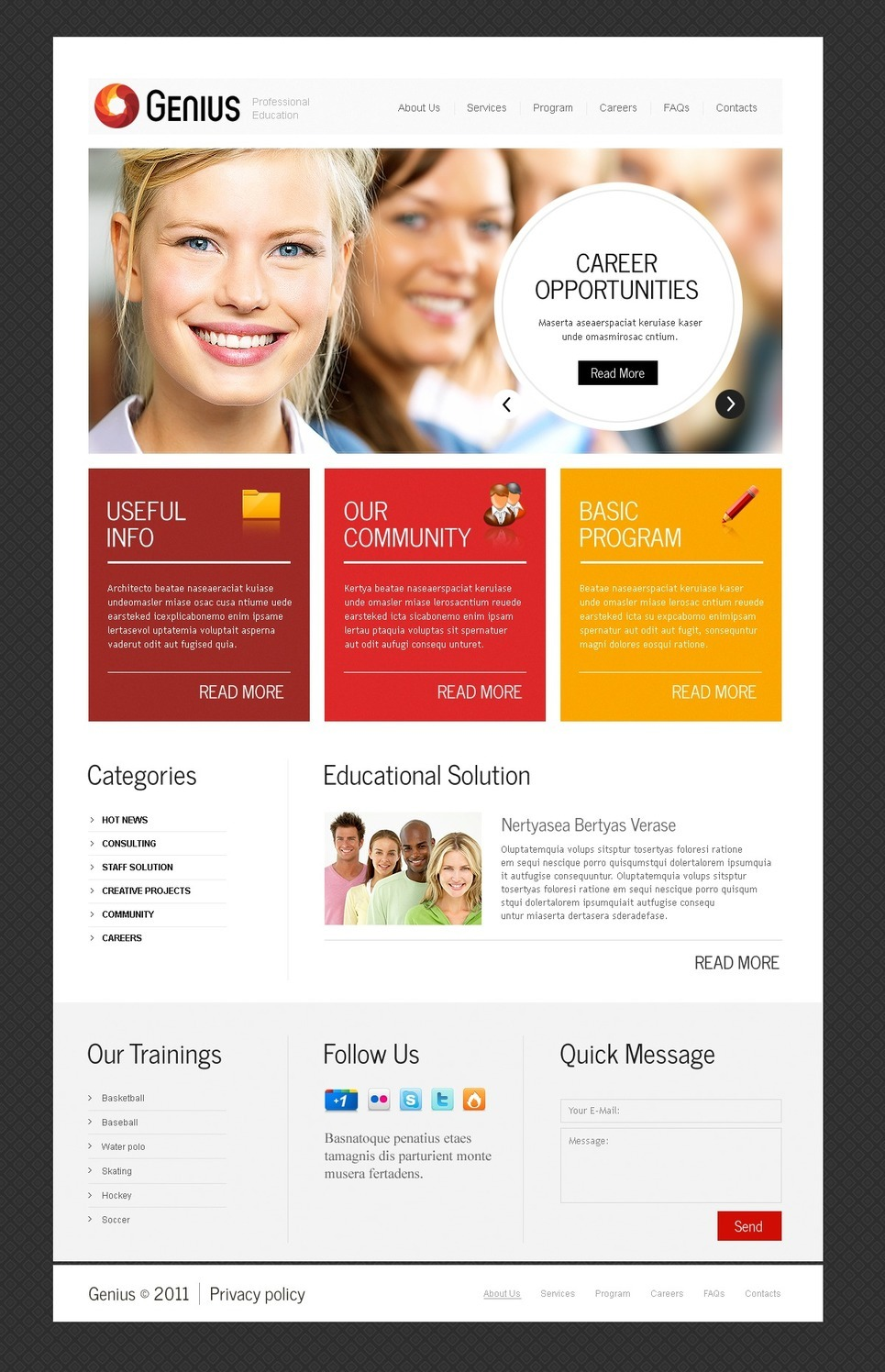 Business School PSD Template New Screenshots BIG