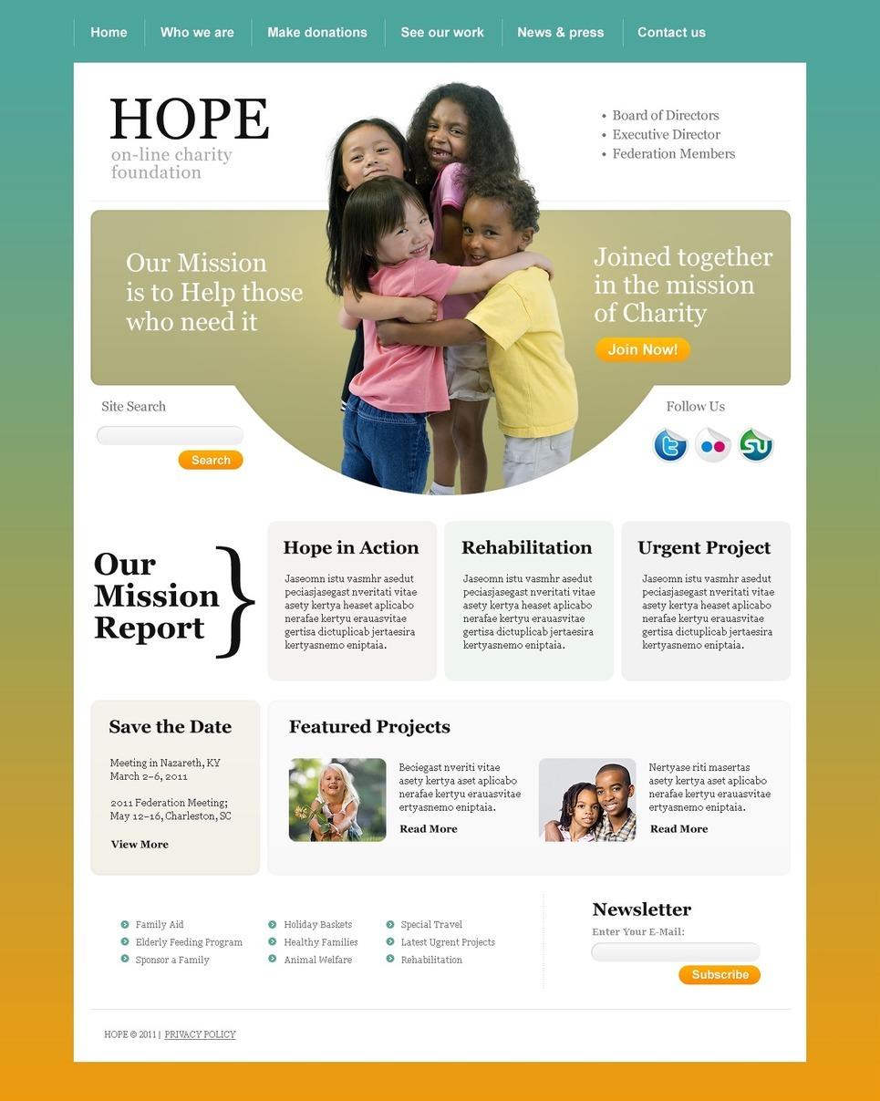 Child Charity PSD Template New Screenshots BIG