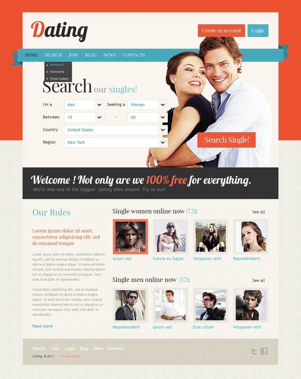dating site psd A collection of free high quality website templates designed with photoshop.