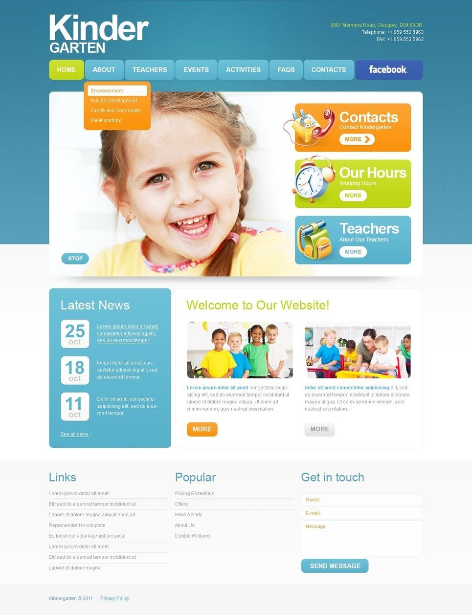 Kids Center PSD Template New Screenshots BIG