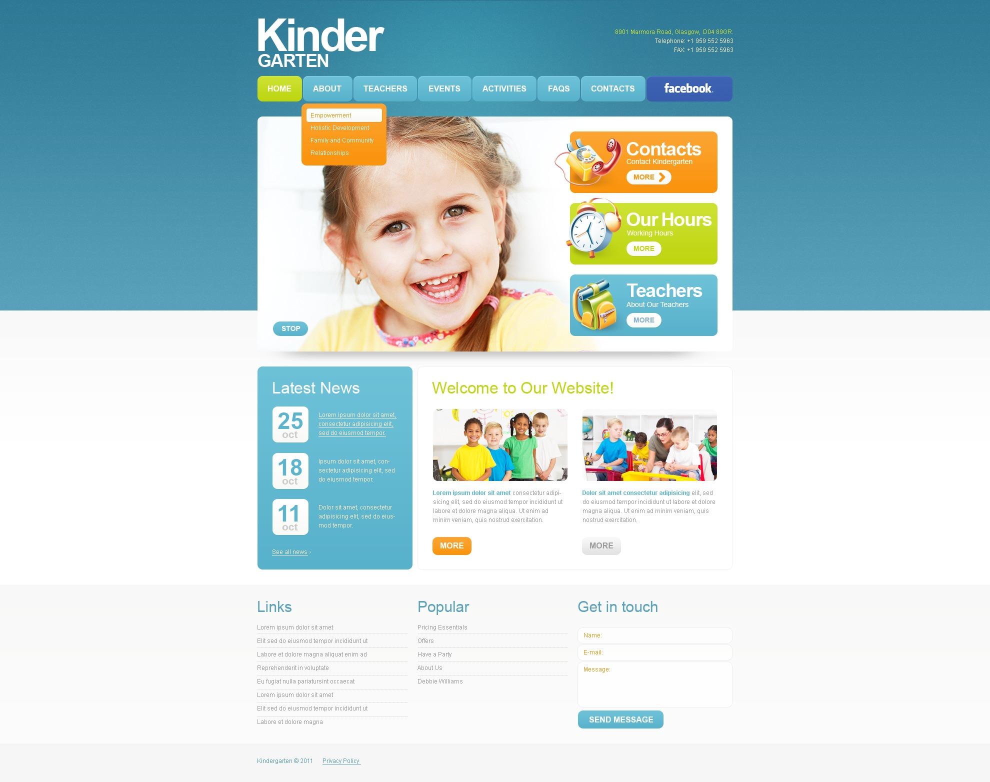 Kids Center PSD Template