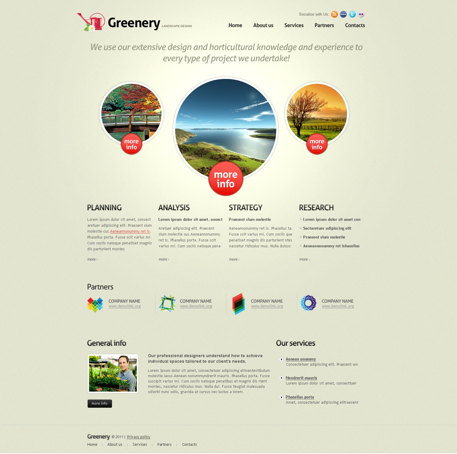 Landscape Design PSD Template - screenshot