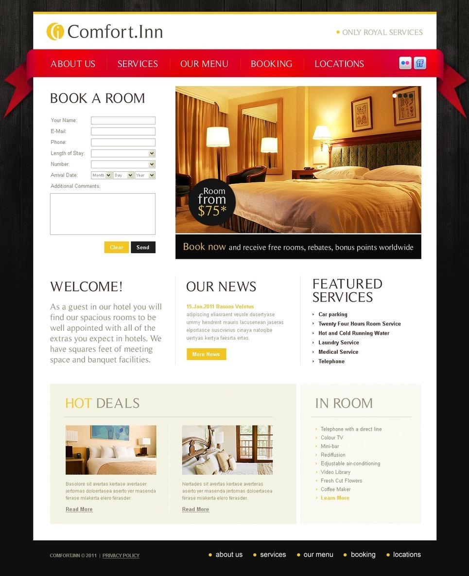 Motel PSD Template New Screenshots BIG