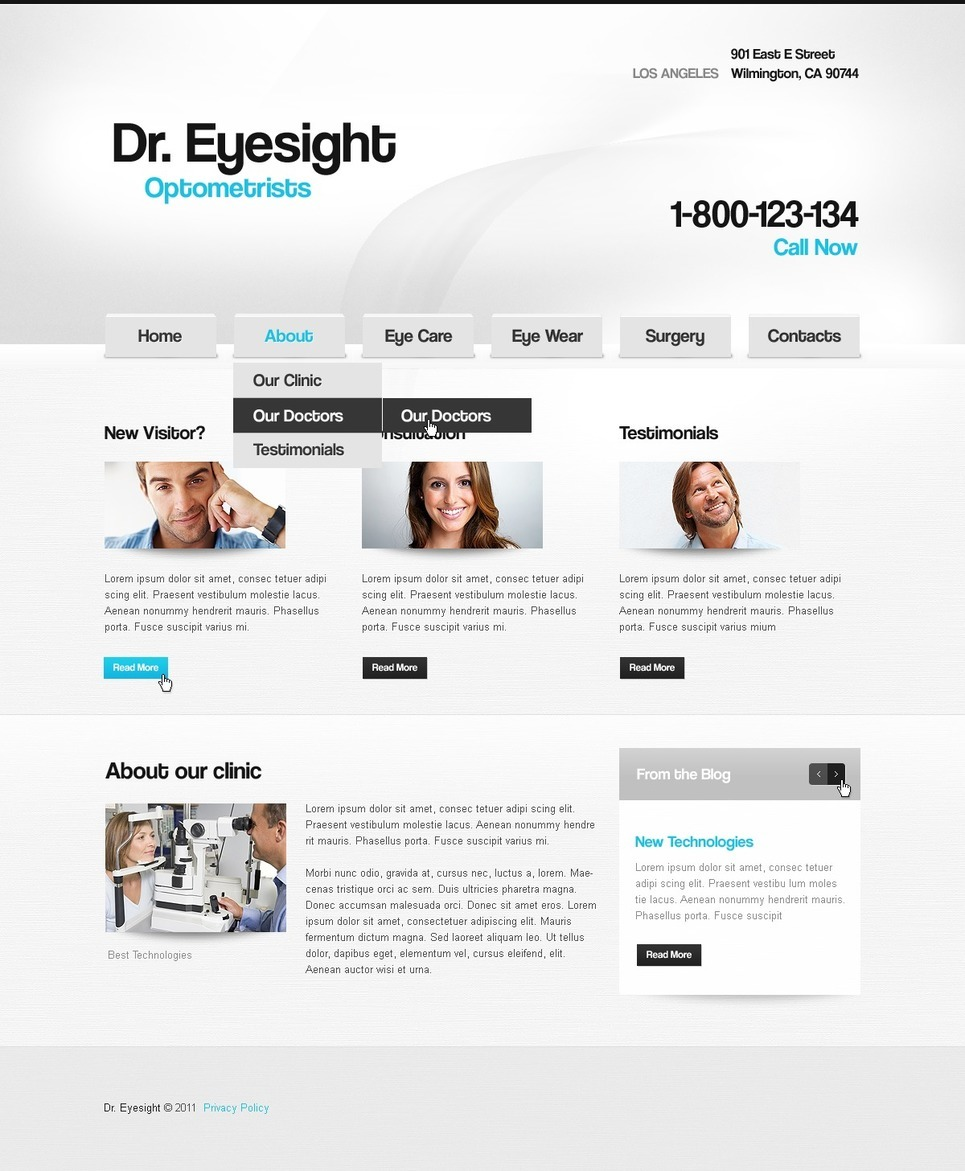 Optometrist's PSD Template New Screenshots BIG