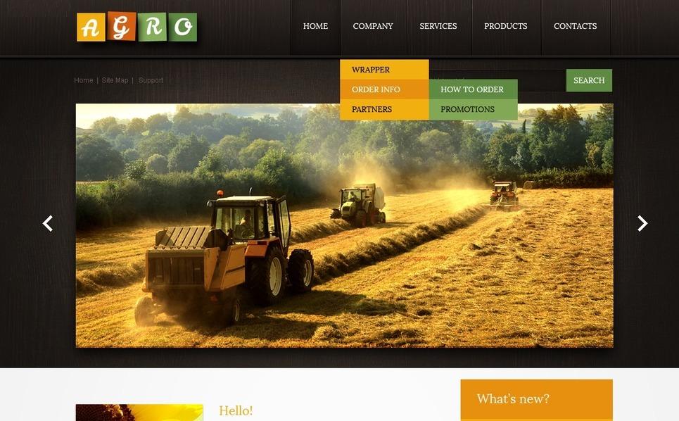 Szablon PSD #56932 na temat: rolnictwo New Screenshots BIG