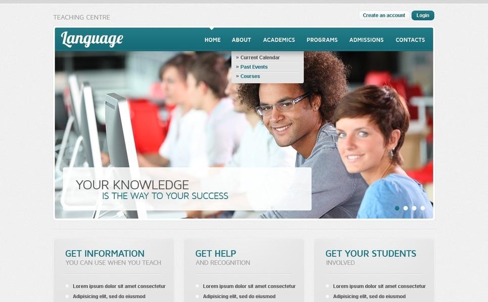 Template PSD  #56959 per Un Sito di Scuola Linguistica New Screenshots BIG