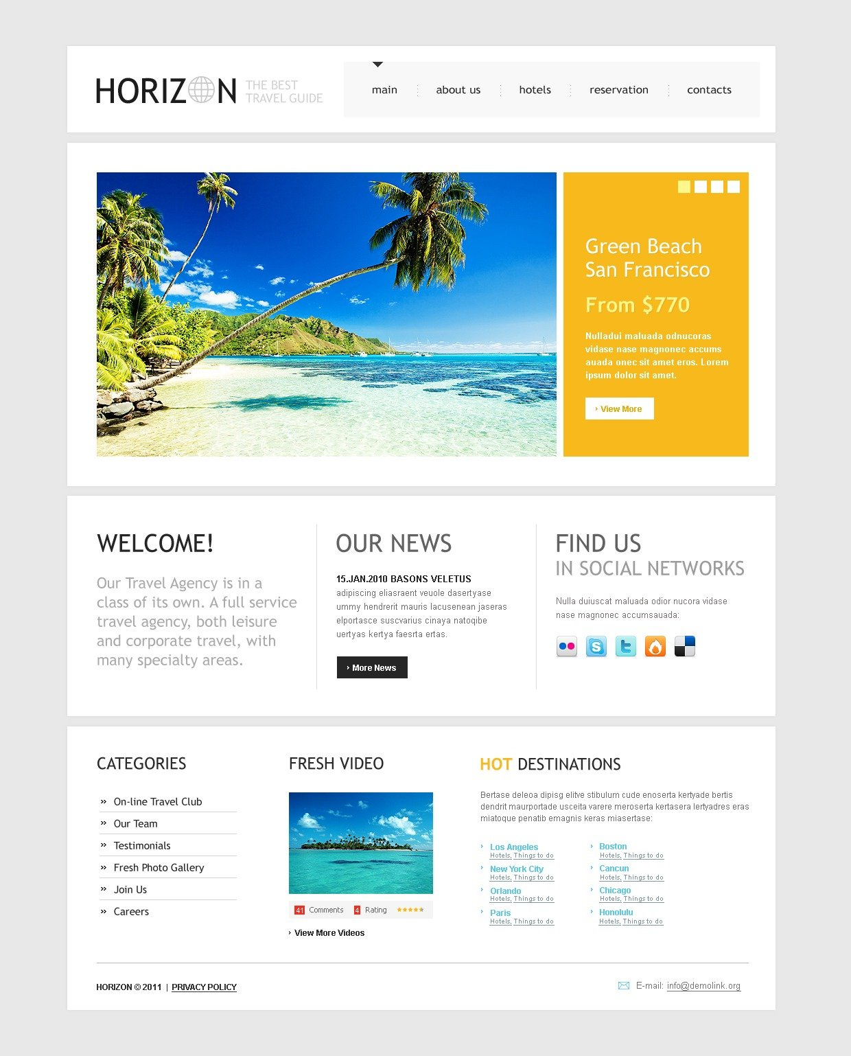 Travel Guide PSD Template #56921